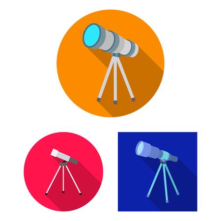 Isolated object of telescope and binoculars logo. Set of telescope and history stock symbol for web. Illustration
