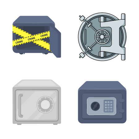 Vector illustration of  and safe . Collection of  and cash stock symbol for web.