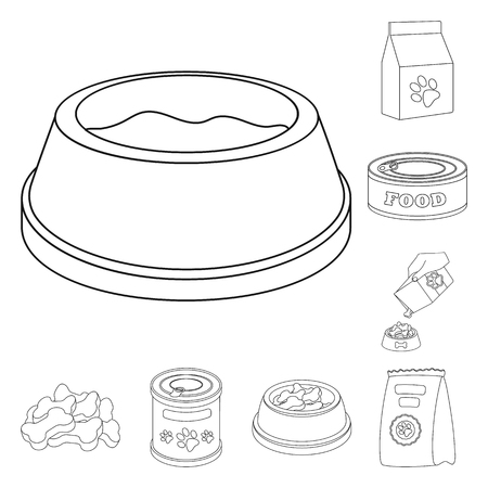 Vector design of food  and tin . Collection of food  and bottle stock vector illustration. Stock Illustratie