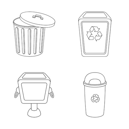 Vector illustration of urn  and  symbol. Set of urn  and  stock vector illustration. Illustration