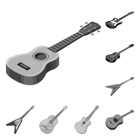 Vector design of rock and music logo. Collection of rock and instrument vector icon for stock.