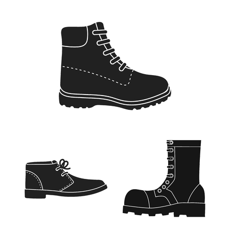 Objeto aislado de cuero y símbolo casual. Colección de cuero y símbolo de stock formal para web. Ilustración de vector