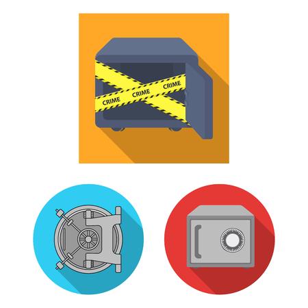 Vector illustration of  and safe logo. Collection of  and cash vector icon for stock. Illustration