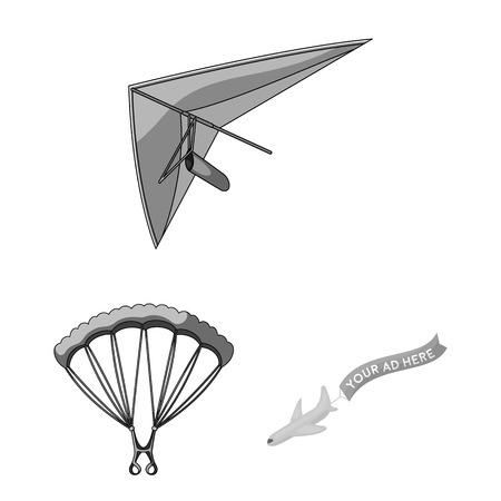 Objeto aislado de transporte y signo de objeto. Conjunto de ilustración vectorial de stock de transporte y deslizamiento.