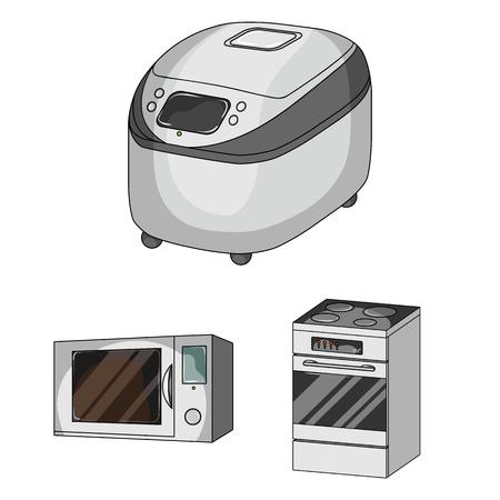 Objet isolé de nourriture et icône à l'intérieur. Ensemble d'icônes vectorielles de nourriture et de cuisinière pour le stock. Vecteurs