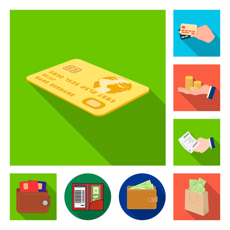 Isolated object of payment and loan sign. Collection of payment and financial stock symbol for web. Illustration