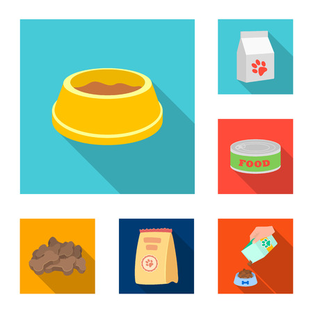 Vector illustration of food  and tin sign. Collection of food  and bottle vector icon for stock.