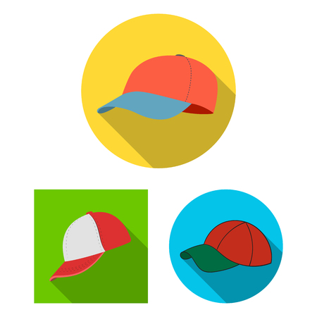 Vector illustration of sports and baseball symbol. Collection of sports and sun vector icon for stock. Çizim