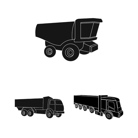 Vector design of truck and shipping icon. Collection of truck and container stock vector illustration.