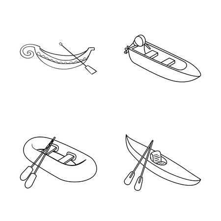 Isolated object of sail and sea logo. Collection of sail and regatta vector icon for stock.