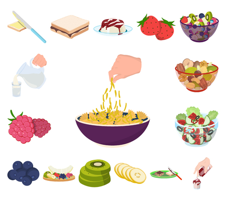 Dessert fragrant cartoon icons in set collection for design. Food and sweetness vector symbol stock web illustration.