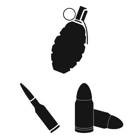 Vector illustration of weapon and war icon. Collection of weapon and inventory  stock vector illustration.