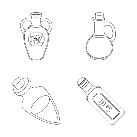 Isolated object of food  and bung sign. Set of food  and oil  vector icon for stock.