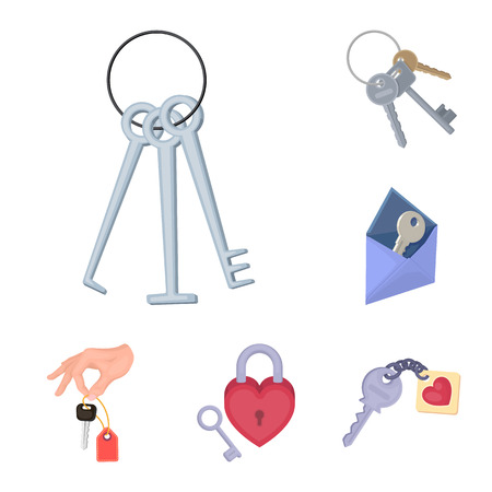 Isolated object of key  and protection icon. Set of key  and security stock vector illustration.