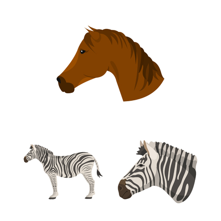 Vector design of trot and running icon. Collection of trot and clipart vector icon for stock. 向量圖像