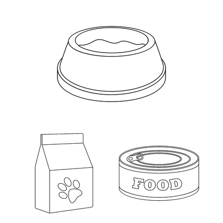 Isolated object of food  and tin icon. Set of food  and bottle stock vector illustration.