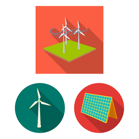 Isolated object of energy and solar symbol. Set of energy and green stock symbol for web. Archivio Fotografico - 113307466