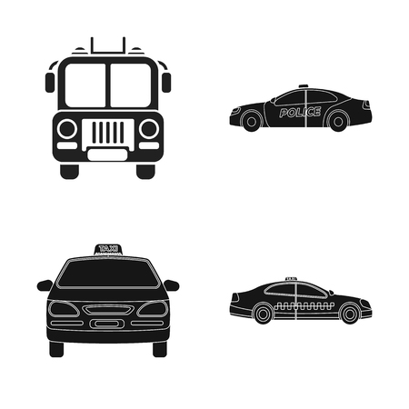 Isolated object of engine and truck icon. Collection of engine and vehicle vector icon for stock.