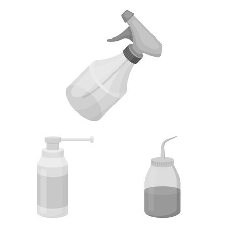 Vector illustration of sprayer and liquid logo. Set of sprayer and pesticide vector icon for stock.