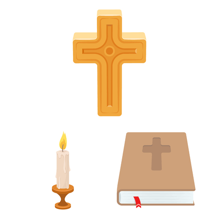 Isolated object of muslim and items symbol. Set of muslim and candle vector icon for stock.