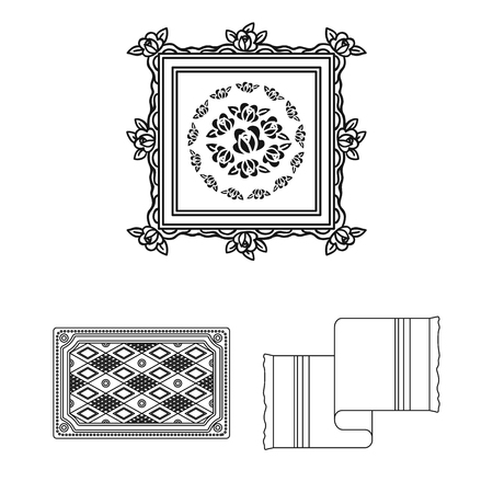 Isolated object of carpet and persian icon. Set of carpet and border vector icon for stock.