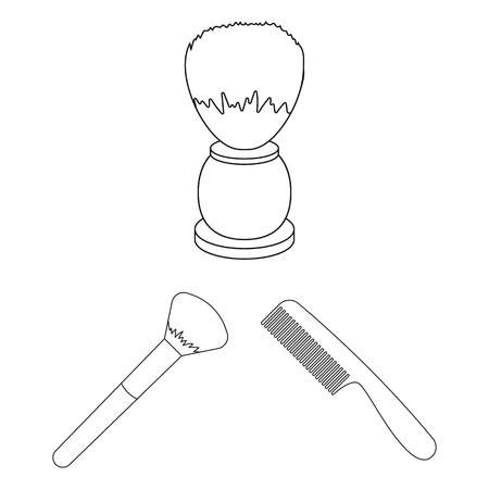Vector design of brush and hygiene sign. Set of brush and shower vector icon for stock.