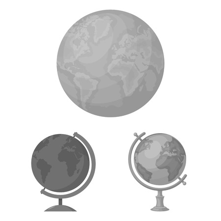 Isolated object of globe and world symbol. Set of globe and earth vector icon for stock.