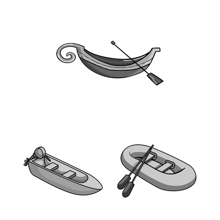 Vector design of sail and sea symbol. Collection of sail and regatta vector icon for stock. Çizim