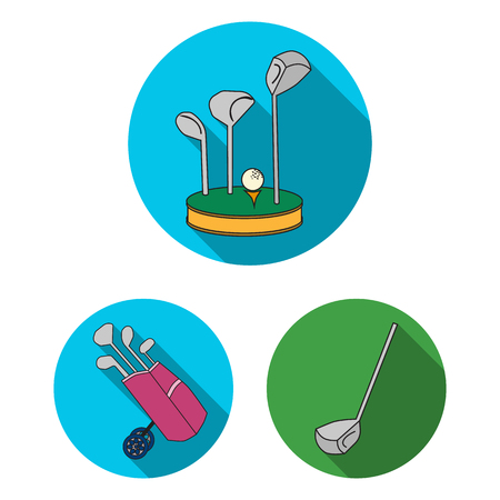 Vector illustration of stick and field icon. Set of stick and club stock symbol for web.