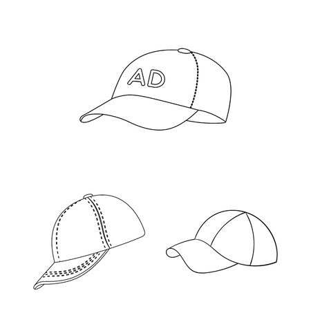 Vector design of sports and baseball symbol. Collection of sports and sun stock symbol for web.