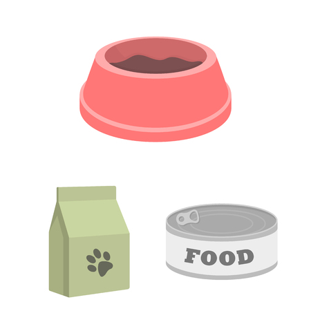 Isolated object of food  and tin symbol. Collection of food  and bottle stock vector illustration.