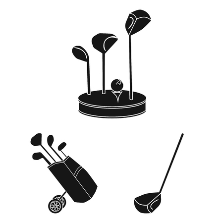 Vector illustration of stick and field logo. Set of stick and club stock vector illustration.