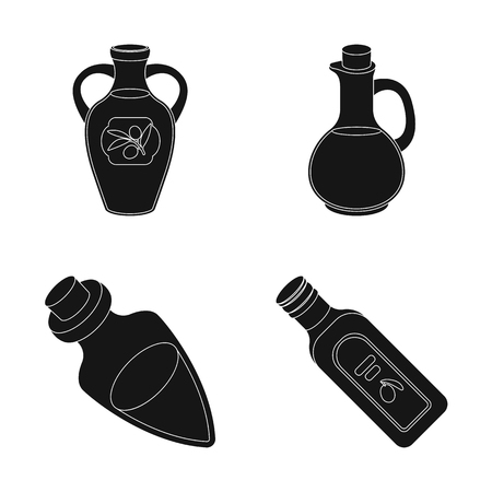Vector design of food and bung logo. Collection of food and oil stock vector illustration.