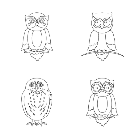 Isolated object of animal and tattoo sign. Collection of animal and wild vector icon for stock.