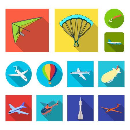 Vector design of transport and object icon. Set of transport and gliding stock symbol for web.