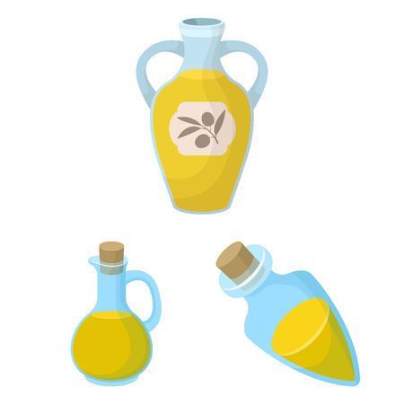 Isolated object of food  and bung icon. Collection of food  and oil  vector icon for stock.