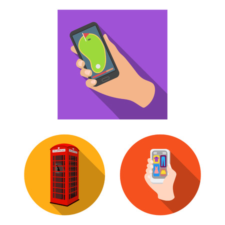 Isolated object of phone and screen symbol. Collection of phone and cellphone vector icon for stock. Vektorové ilustrace
