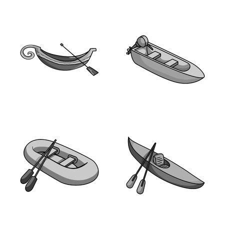 Vector design of sail and sea sign. Collection of sail and regatta vector icon for stock. Illustration