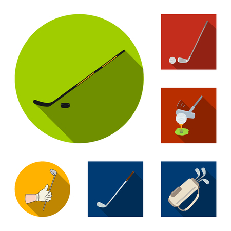 Isolated object of stick and field icon. Collection of stick and club stock symbol for web.