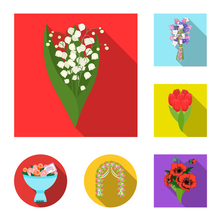 Vector illustration of spring and wreath logo. Collection of spring and blossom vector icon for stock.