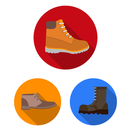 Vector design of leather and casual logo. Set of leather and formal stock symbol for web. Illustration
