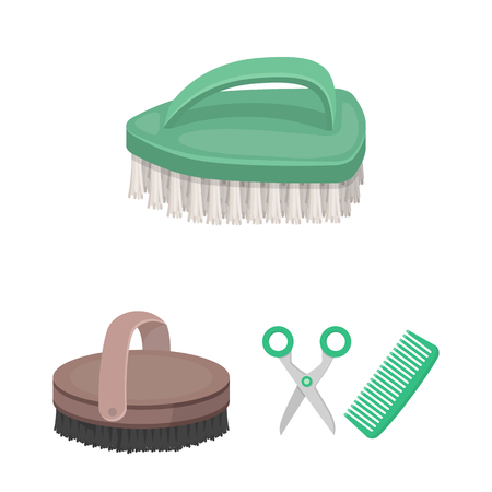 Isolated object of brush  and hygiene  icon. Collection of brush  and shower stock symbol for web. Ilustração