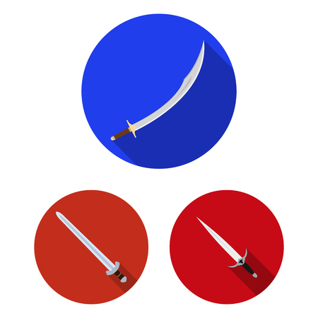 Isolated object of sword and blade icon. Collection of sword and game  stock symbol for web.