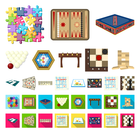 Board game cartoon,flat icons in set collection for design. Game and entertainment vector symbol stock web illustration.