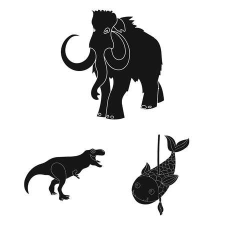 Vector design of animal and character symbol. Set of animal and ancient  stock symbol for web.