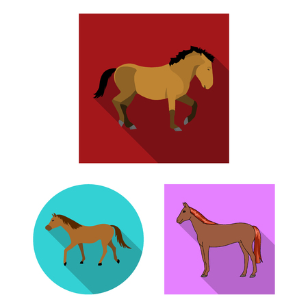 Isolated object of trot and running logo. Set of trot and clipart vector icon for stock. 版權商用圖片 - 126713679