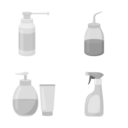 Isolated object of sprayer and liquid symbol. Collection of sprayer and pesticide vector icon for stock. Illustration