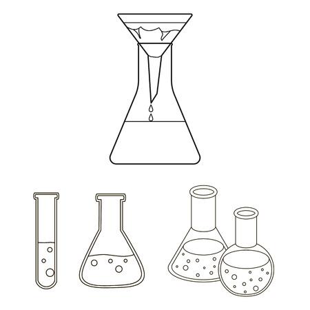 Conception de vecteur de flacon et symbole de laboratoire.