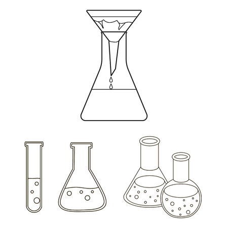 Vector design of flask and laboratory symbol.