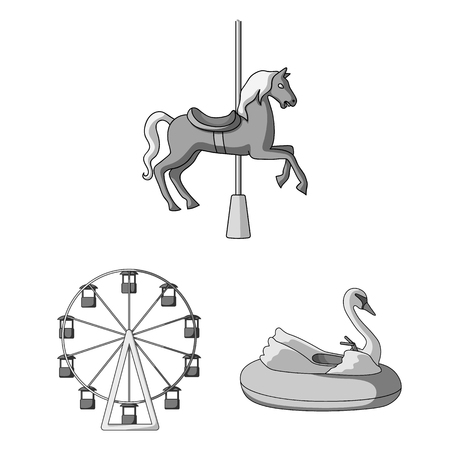 Illustration of fun and horse icon.